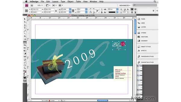 Rotating objects: InDesign CS4 Essential Training
