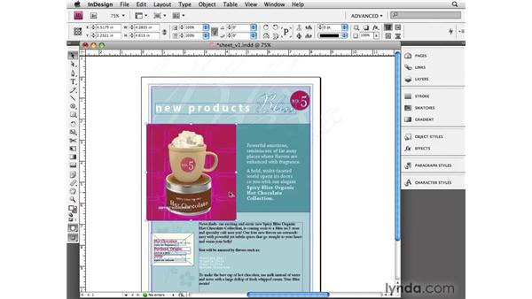 Scaling objects: InDesign CS4 Essential Training