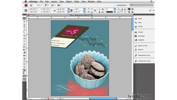 Skewing objects: InDesign CS4 Essential Training