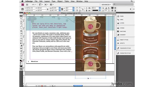 Mirroring objects: InDesign CS4 Essential Training