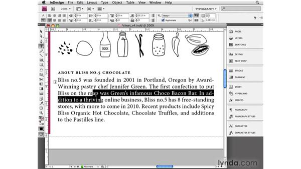 Understanding paragraph formatting: InDesign CS4 Essential Training