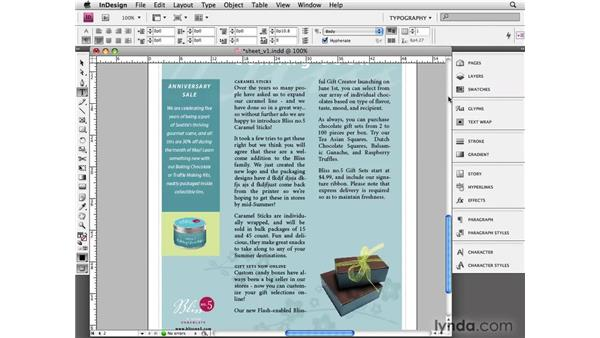 Understanding justification: InDesign CS4 Essential Training