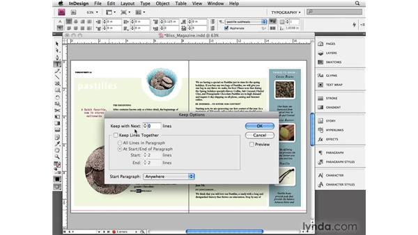 Keeping options: InDesign CS4 Essential Training