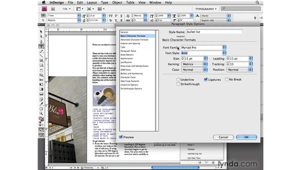 Applying paragraph styles: InDesign CS4 Essential Training