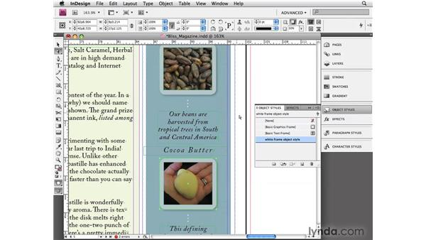 Using object styles: InDesign CS4 Essential Training