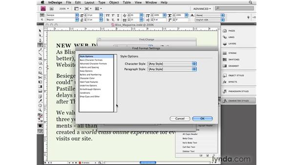 Cleaning up imported text: InDesign CS4 Essential Training
