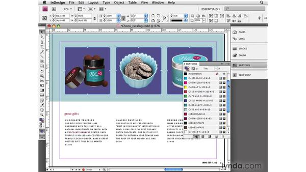 Using unnamed colors: InDesign CS4 Essential Training