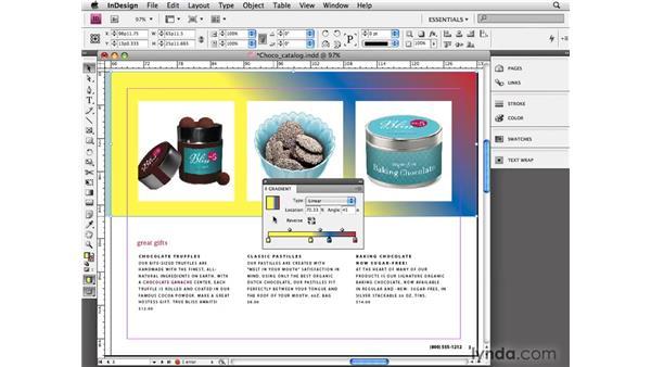 Applying gradients: InDesign CS4 Essential Training