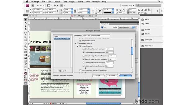 Using preflight options: InDesign CS4 Essential Training