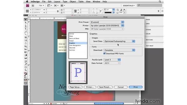 Using the Print dialog box: InDesign CS4 Essential Training