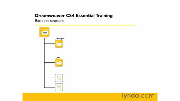 Basic site structure: Dreamweaver CS4 Essential Training
