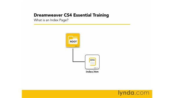 What is an index page?: Dreamweaver CS4 Essential Training
