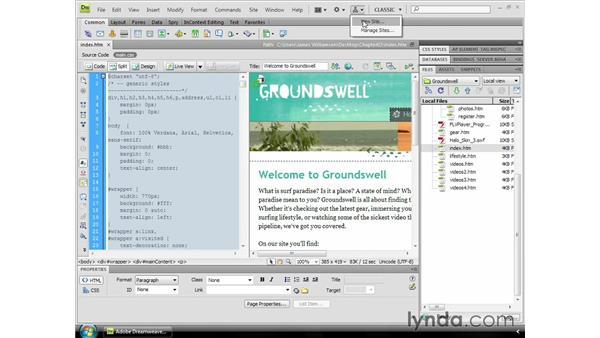 The Application toolbar: Dreamweaver CS4 Essential Training