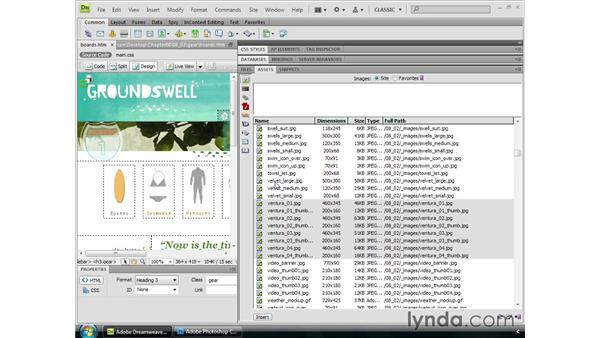 Managing assets in Dreamweaver: Dreamweaver CS4 Essential Training