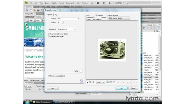 Alternate Photoshop workflows: Dreamweaver CS4 Essential Training