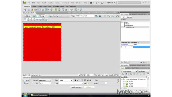 The Box Model: Dreamweaver CS4 Essential Training