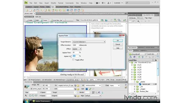 Adding Spry widgets: Dreamweaver CS4 Essential Training