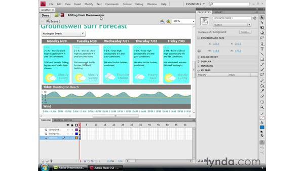 Dreamweaver and Flash integration: Dreamweaver CS4 Essential Training
