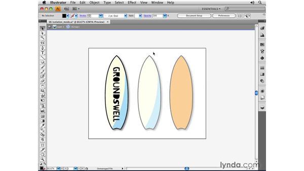 Isolation mode: Illustrator CS4 Essential Training