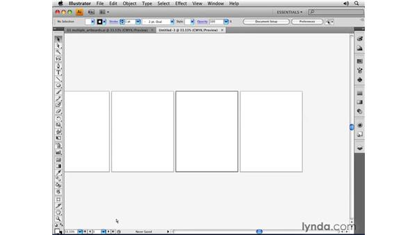 Using multiple artboards: Illustrator CS4 Essential Training