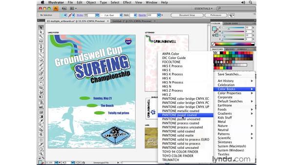 Libraries and content: Illustrator CS4 Essential Training