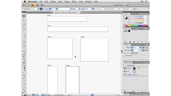 Illustrator templates: Illustrator CS4 Essential Training
