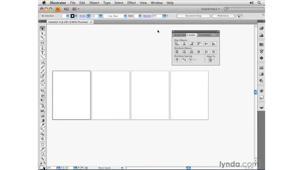Exploring panels: Illustrator CS4 Essential Training