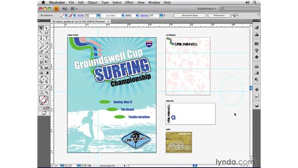 Using rulers and guides: Illustrator CS4 Essential Training