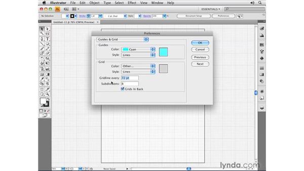 Using grids: Illustrator CS4 Essential Training