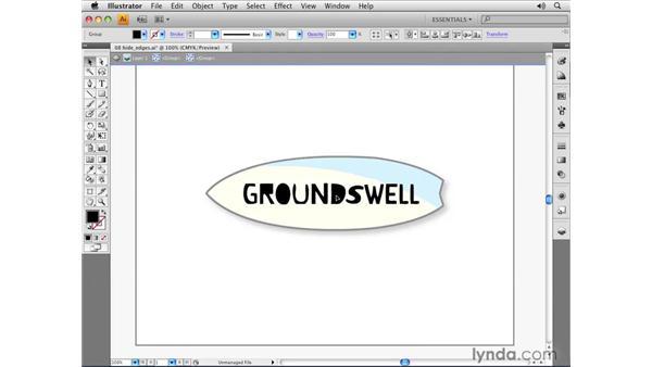 The Hide Edges command: Illustrator CS4 Essential Training