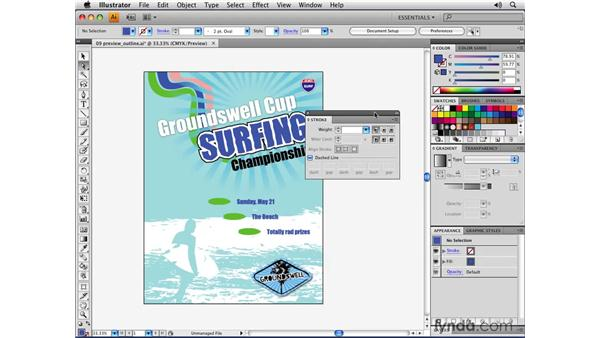 Using workspaces: Illustrator CS4 Essential Training