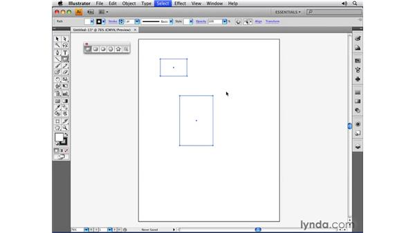 Drawing closed-path primitives: Illustrator CS4 Essential Training