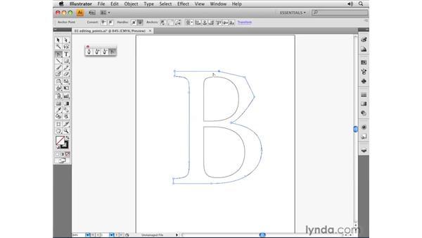 Editing anchor points: Illustrator CS4 Essential Training