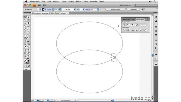 Creating compound shapes: Illustrator CS4 Essential Training