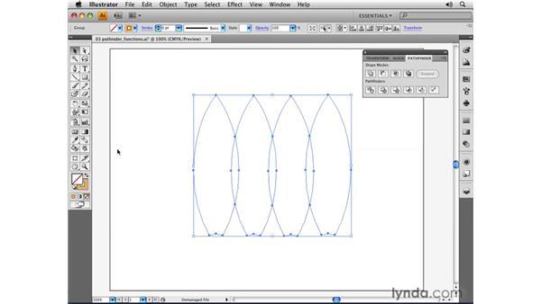Utilizing Pathfinder functions: Illustrator CS4 Essential Training