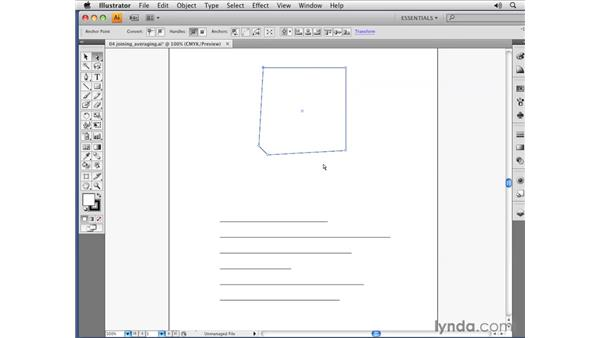 Joining and averaging paths: Illustrator CS4 Essential Training