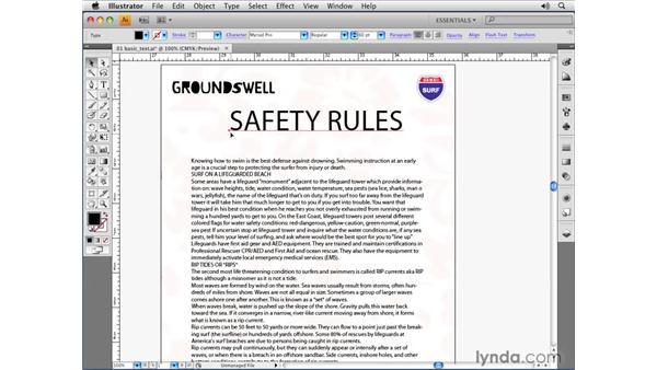Creating point text: Illustrator CS4 Essential Training