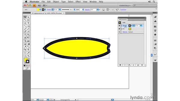 Using the Appearance panel: Illustrator CS4 Essential Training