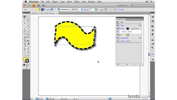 Appearance panel settings: Illustrator CS4 Essential Training
