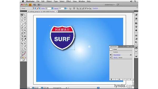 Editing groups: Illustrator CS4 Essential Training