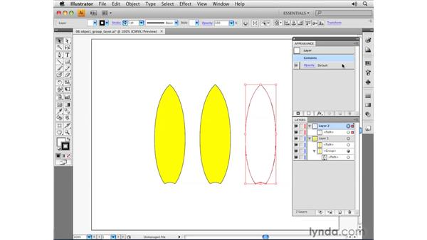 Object, group, and layer attributes: Illustrator CS4 Essential Training