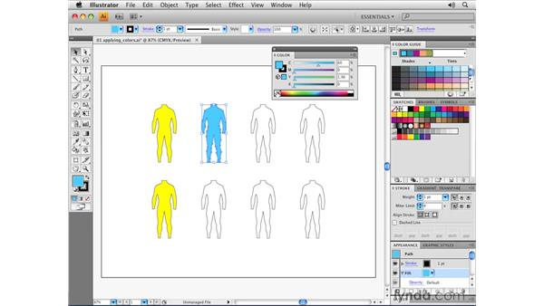 Applying colors: Illustrator CS4 Essential Training