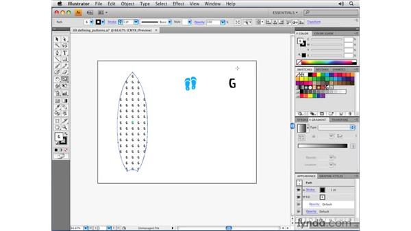 Defining simple patterns: Illustrator CS4 Essential Training