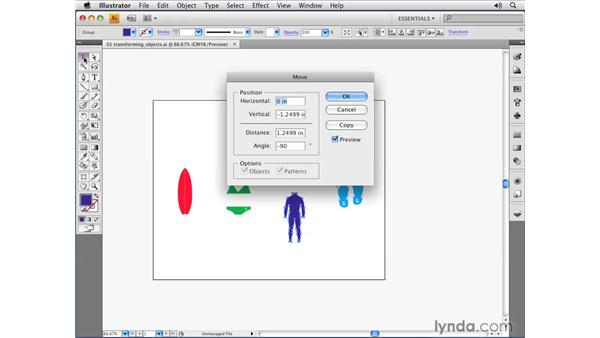 Moving and copying objects: Illustrator CS4 Essential Training