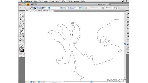 Using the Blob Brush tool: Illustrator CS4 Essential Training