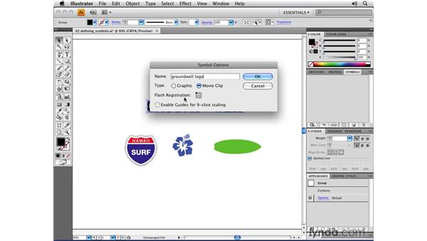 Defining your own symbols: Illustrator CS4 Essential Training
