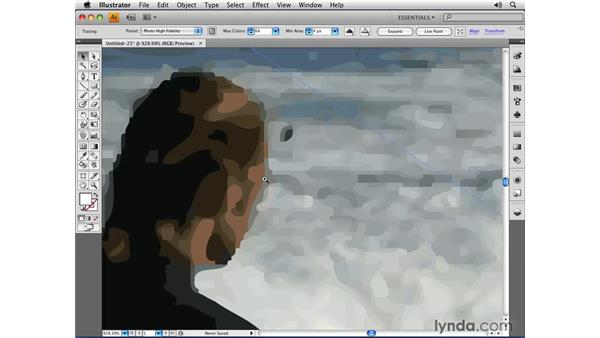 Converting images to vectors with Live Trace: Illustrator CS4 Essential Training