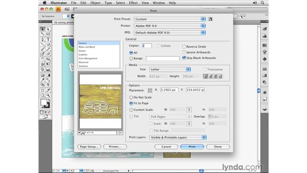 Printing your Illustrator document: Illustrator CS4 Essential Training