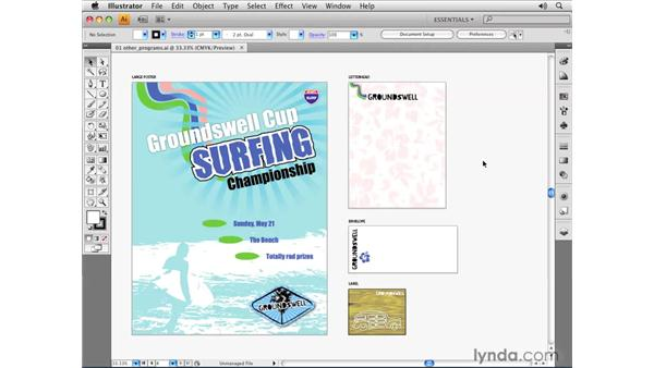 Exporting files for use in InDesign: Illustrator CS4 Essential Training