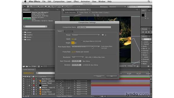 Creating and using compositions: After Effects CS4 Getting Started